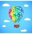 Rainbow colors abstract triangles flying balloon vector