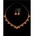 Gold coin necklace set 2 vector