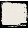 Abstract grunge frame black and beige background vector