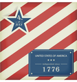 Stars and stripes in red blue vector