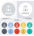 8 march womens day sign icon holiday symbol vector