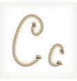 Rope alphabet letter c vector