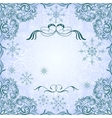 Romantic frosty vintage invitation for winter vector