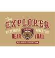 Bear trail outdoor adventure vector