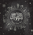 Christmas chalkboard background vector