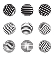 Abstract swirls sphere vector