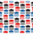 Bank icon seamless pattern vector