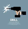 Drill in hand vector