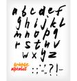 Grunge handwritten alphabet set vector