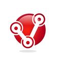 Circular work business connection logo vector