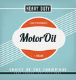 Motor oil label vector
