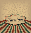 Vintage card with advertising header for carnival vector