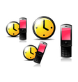Pink cellphone vector