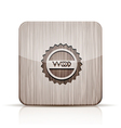 Wooden app icon on white background eps 10 vector