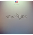 World cities labels - new york vector