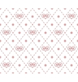 Geometrical pattern with abstract hearts vector