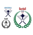 Baseball sport club emblem vector