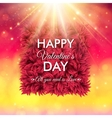 Colorful happy valentines day card design vector