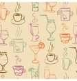 Seamless pattern with drinks vector