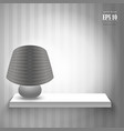 Lamp on the shelf vector
