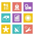 Color icons for web design set 50 vector