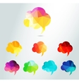 Abstract colour triangle speech bubbles set vector