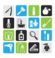Silhouette body care and cosmetics icons vector