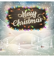 Christmas vintage landscape with signboard eps 10 vector