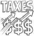 Taxes and arrow vector