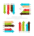 Set of design elements six options for infographic vector