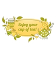 Tea and sweets label vector