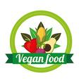 Vegan food vector
