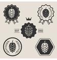 Hop craft beer sign symbol label element vector