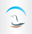 Dove freedom symbol abstract design vector