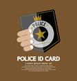 Police id card vector