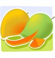 Two mangos vector