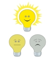 Set of electric bulbs bright on vector