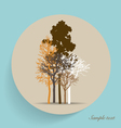 Tree silhouettes vector
