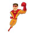 Handsome superhero flying vector