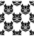 Bold black and white arabesque seamless pattern vector