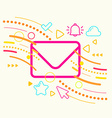 Envelope on abstract colorful geometric light vector