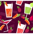 Seamless pattern with different cocktails vector