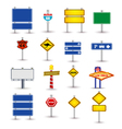 Set of road sign vector