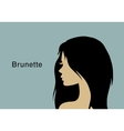 Young brunette woman vector