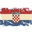 Croatian grunge flag vector