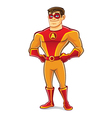 Handsome superhero proud vector
