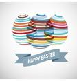 Easter eggs strips vector