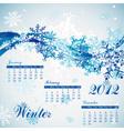 Snowflake winter calendar 2012 vector