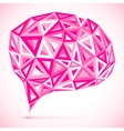 Abstract triangles pink idea bubble vector