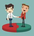 Businessman shaking hand vector